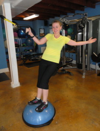 Personal training with bosu ball